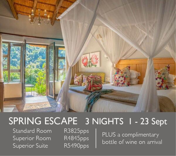 Spring Escape 3 Nights 1 - 23 Sept